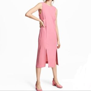 H&M Sleeveless Pink Sheath Dress